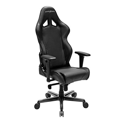 DXRacer OH/RV001 Racing Bucket Seat Office Chair Gaming Ergonomic with Lumbar Support (Black) DXRACER