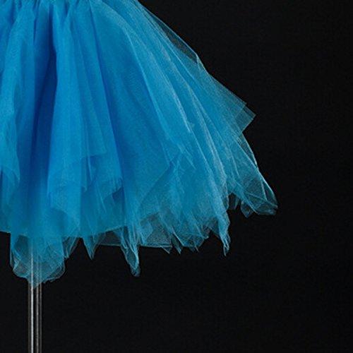 en Dguisement Soire Elastique jupe dentelle Jupon optique 42 Cosplay Pliss Tutu Mini Bal Bouffe Princesse 34 44 Courte 38 Tulle Couleur 40 Costume Danse Jupe Bleu 36 Ballet FEOYA 3 pour Femme RXH1X