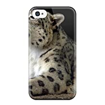Tough Iphone CRTePLR1851JCTpC Case Cover/ Case For Iphone 4/4s(snow Leopard Pictures )