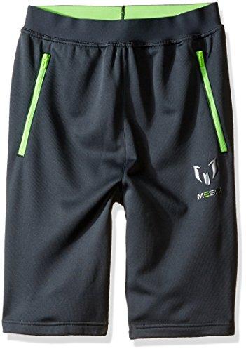 adidas Boys Soccer Messi Bermuda Shorts, Dark Grey/Neon Green, X-Large (Adidas Shorts Fleece)