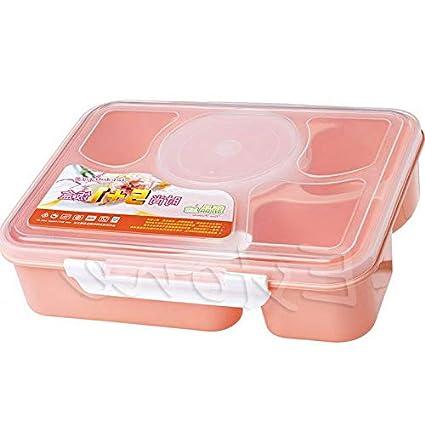 9fec79b89c8e Amazon.com: Mikash New Microwave Bento Lunch Box + Spoon Utensils ...