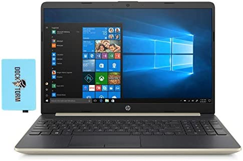 "HP 15-dy1036nr-PG Home and Business Laptop (Intel i5-1035G1 4-Core, 8GB RAM, 1TB HDD, Intel UHD Graphics, 15.6"" Full HD (1920x1080), WiFi, Bluetooth, Webcam, 2xUSB 3.1, 1xHDMI, Win 10 Home) with Hub"