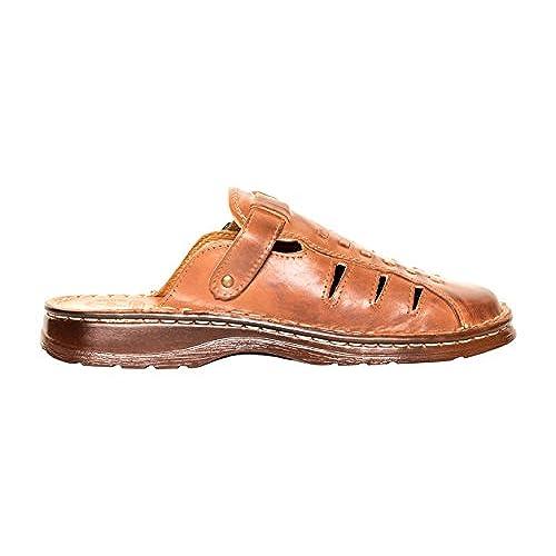 b5de937cfe 70%OFF Mens Comfortable Footwear Orthopedic Form Genuine Buffalo Leather  Mule Sandals Shoes Model-