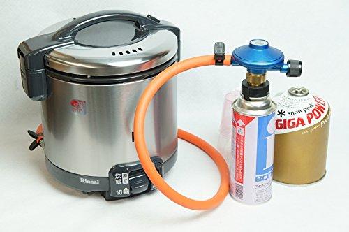 【どこでもご飯】リンナイこがまるキャンピング用ガス炊飯器 セット 3.5合炊き(図解解説書付) (OD缶 T型ボンベ用)