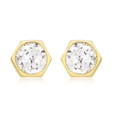 Carissima Gold - Boucles d'Oreille - Femme - Or Jaune 375/1000 (9 Cts) 0.4 Gr - Oxyde de zirconium