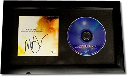 Minnie Driver Hand Signed Autographed Framed CD Cover Everything I got w/CD GA
