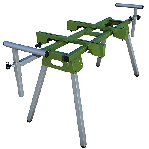 Universal Folding Miter Saw Stand and Shear Stand with Quick Attach Mounts and Material Support (Cutter Chop Saw)