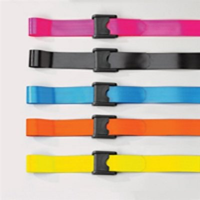 Posey Premium EZ Clean Gait Belts With Spring-Loaded Buckle - 1 Each - Color: Blue & Size: Standard (Spring Loaded Buckle)