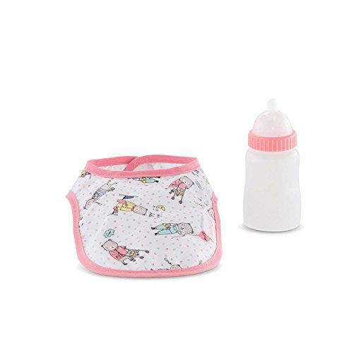 Corolle Mon Grand Poupon Bib & Magic Milk Bottle Set Toy Baby Doll (Baby Doll Accessories Corolle)