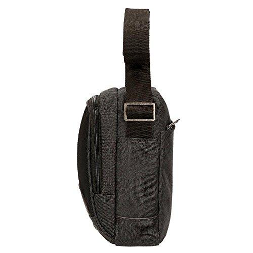 Pepe Jeans Greenwich - Maletín, 24 cm, 2.95 Litros, Negro