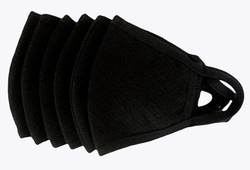 Healthy Air Mask® Basic Black High Efficiency Allergy Mask (6 Pk)