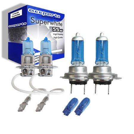 2x H7 Xenon Bulbs 55w 12v White To Fit Headlight Skoda Fabia 6Y2 1.2