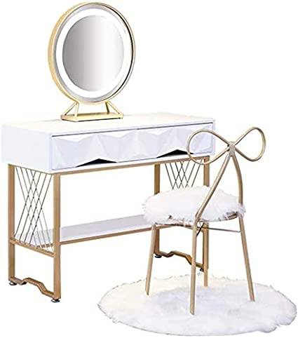 Jinpengran White Dressing Table With Mirrors And Storage Drawers And Stool Set Bedroom Fancy Makeup Vanity Table Desk For Ladies Gift Amazon Co Uk Kitchen Home
