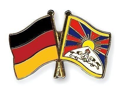 Drapeau Tibet Allemagne & amitié Plaqué Or-Gifts Épinglette émaillée