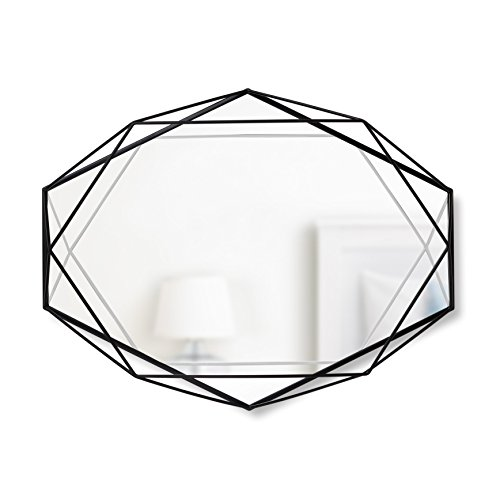 Umbra Prisma Wall Mirror, Black (Mirrors Metal Framed Decorative)