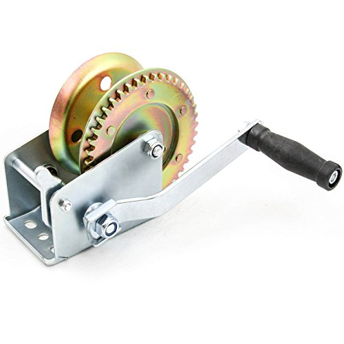 Hand Crank Gear Winch ATV Boat Trailer Heavy Duty for Cable ()