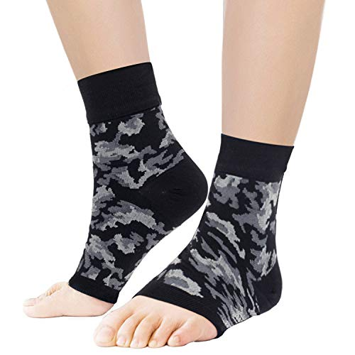 Compression Socks for Men & Women Plantar Fasciitis Socks with Arch Support Ankle Brace Compression Foot Sleeves Pain Relief and Treatment Reduce Swelling (L/XL)