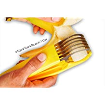 AmazingHeight Banana Cutter, 304 Stainless Blade, 6 Equal Slices with 1 cut Convenient Speedy Neat Cutting