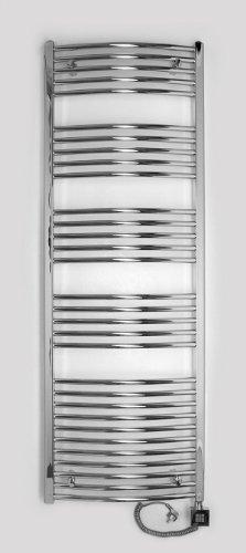 Eléctrico Radiador de baño, Cromo, curvada, de gran calidad, disponible en varios