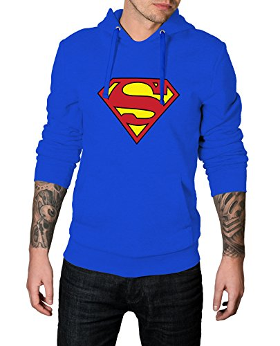 Superman Outfit For Men (Men Superman S Logo Costume for Halloween 2017 - Cosplay Hoodie | Royal Blue, L)