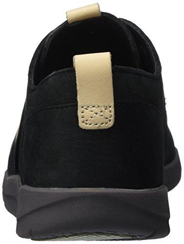 Negro Clarks Combi Zapatillas Tri para Mujer Caitlin Black q147U1wH