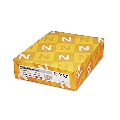 Neenah Paper 04631 CLASSIC CREST Paper, 24lb, 97 Bright, 8 1/2 x 11, Solar White, 500 Sheets - Printer Laser Speed Desktop High