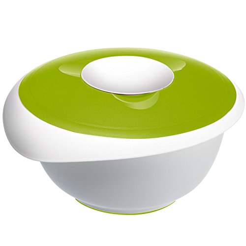 Westmark Mixing Bowl with Two Piece Lid and Removable Splash Guard Applegreen