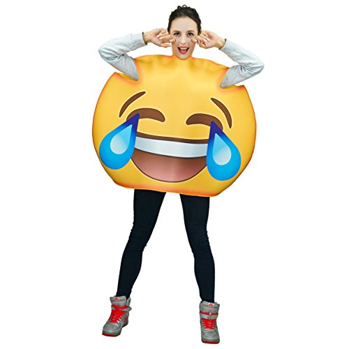 Adult Unisex Emoticon Costumes Laugh Cry One Size