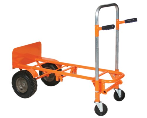 Wesco-272997-Steel-2-4-1-Convertible-Hand-Truck-Pneumatic-Wheels-800-lb-Load-Capacity-22-34-Width-x-53-Height-x-23-Depth