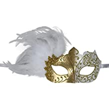 KAYSO Inc Venetian Masquerade Mask With Feathers