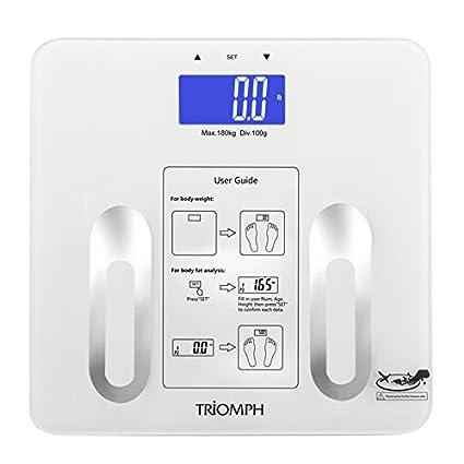 Triomph BMI – Báscula Baño Mide Peso, Grasa Corporal, Agua, Masa Muscular y