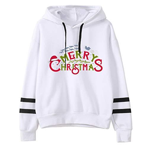 MoonHome Women's Christmas Hoodie Funny Letter Print Long Sleeve Lightweight Crop Top Hooded Sweatshirt Pullover Top Gray