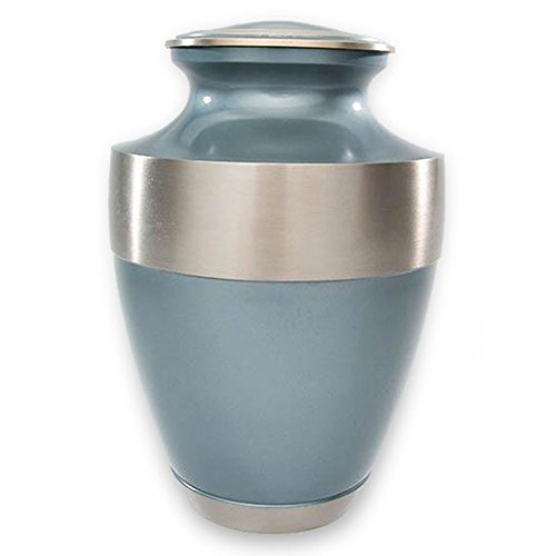 Etch Urn (Beautiful Life Urns Athens Blue Adult Cremation Urn Classic, Elegant Brass Funeral Urn (Large))