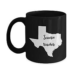 Texas Science Teacher Home State Back To School Teacher Day Coffee Mug Gift 11oz Black