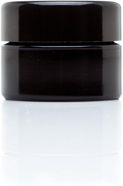 Infinity Jars 15 Ml (.5 fl oz) Pocket Size Black Ultraviolet Glass Screwtop Jar (1)