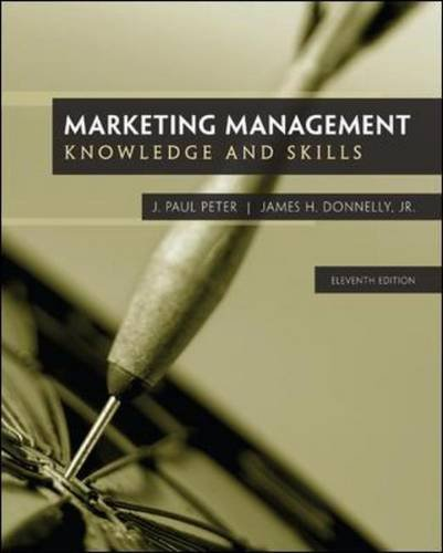Marketing Management: Knowledge and Skills, 11th Edition