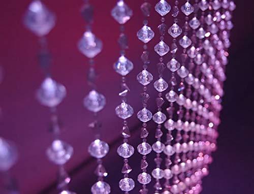 Event Decor Direct 6FT Gemstone Crystal Iridescent Beaded Curtain