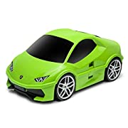 Ridaz Green Lambo Huracan Carry On Hand Luggage for Kids with Wheels