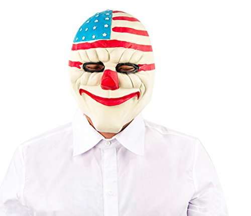 Clown Masks For Sale (Scary Clown Mask Latex, Realistic Halloween Costume Accessory Cosplay Headgear (A))