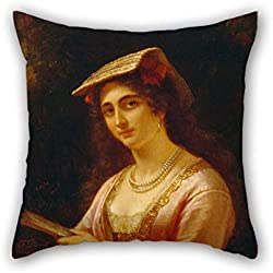 Pillow Cases 18 X 18 Inches / 45 By 45 Cm(each Side) Nice Choice For Kids Room Relatives Home Office Bench Car Pub Oil Painting D??rck, Friedrich - A Neapolitan Woman