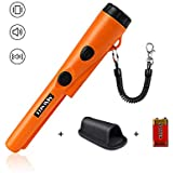MOSUNECE Fully Waterproof Metal Detector Pinpointer Include a 9V Battery, 360°Search Treasure Pinpointing