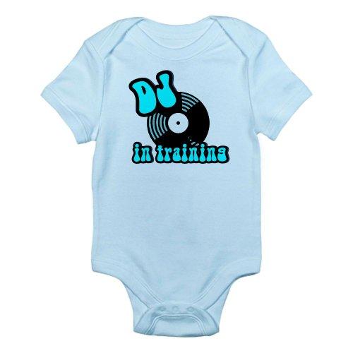 CafePress DJ in training Infant Bodysuit - 18-24M Sky Blue [Apparel] Gif...