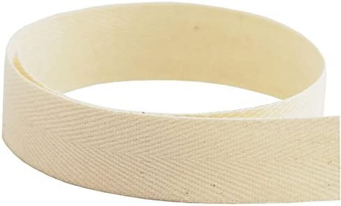 White Natural Natural, 3//8 Inch 25 Yards 3//8 to 1 Inch Size Trimplace Twill Tape Black. 100/% Cotton