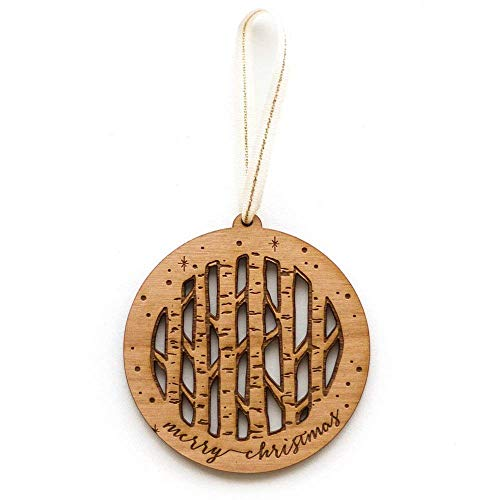 Birch Trees Laser Cut Wood Ornament (Christmas/Holiday / Keepsake/Tradition)