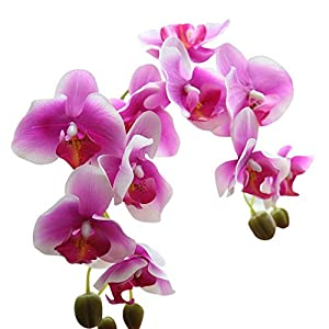 MARJON FlowersArtificial Silk Fake Flowers Phalaenopsis Wedding Bouquet for Home Garden Party Wedding Decoration 67