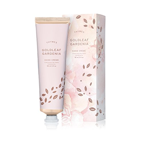 Thymes - Goldleaf Gardenia Hand Crème - Deeply Moisturizing Cream with Light Floral Scent for Women - 3 oz