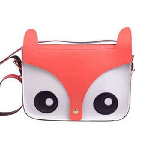 SODIAL(R) Cute Fox Owl Retro Shoulder Messenger Bag