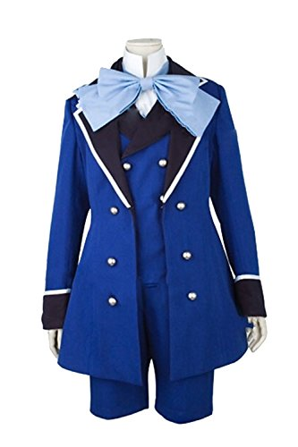 Ciel Phantomhive Costume Cheap (UU-Style Black Butler II Ciel Phantomhive Blue Jacket Coat Shorts Uniform Outfit Cosplay Costume)