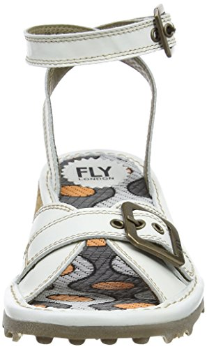 White 005 Donna Fly Sandali Bianco off London Kipi696fly qtA0tYF