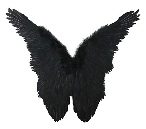 FashionWings (TM Black Butterfly Style Costume Feather Angel Wings Adult Size Unisex]()